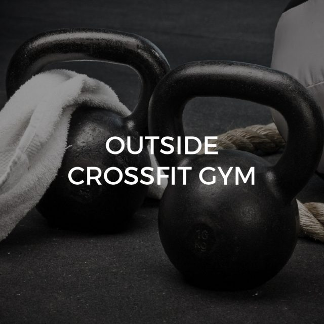 Outside crossfit gym